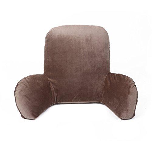 CONMING Taille Kissen Rückenlehne Büro Stuhl Kissen Luxus Rückenlehne Lendenkissen Bettsessel Bett-Stützkissen Stuhl (65x40x25cm) (braun)