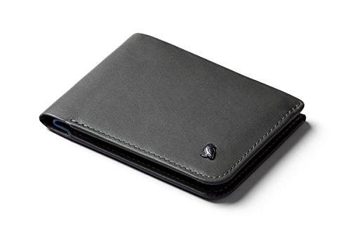 Bellroy Hide & Seek Wallet, Cartera Slim de Piel con Billetera, Disponible con protección RFID, Bolsillo Oculto (Máx. 12 Tarjetas, Efectivo, Monedero) - Charcoal