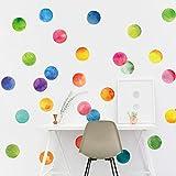 JZYIH 5 unids/set pegatinas de pared de círculo colorido para habitación de niños cuarto de niños dormitorio pared DIY decoración calcomanías de decoración del hogar