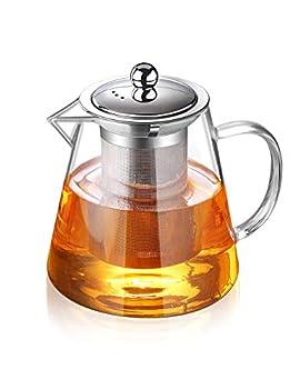 Glass Teapot with Infuser Tea Pot 32oz/43oz Tea Kettle Stovetop Safe Blooming and Loose Leaf Tea Maker Set  32oz/ 950ml