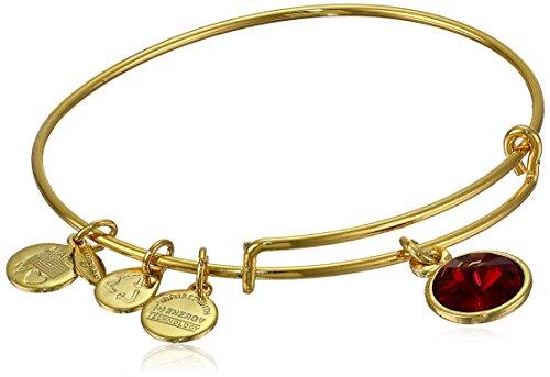 Alex and Ani 'Bangle Bar' January Imitation Birthstone Gold-Tone Expandable Bracelet