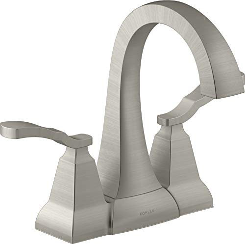 KOHLER K-R30997-4D-BN Ridgeport Bathroom Sink Faucet, Vibrant Brushed Nickel