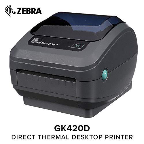 Zebra GK42-202520-000 - Stampante per etichette termiche dirette, 203 x 203 dpi, 127 mm/sec, senza fili, 8 MB, 4 MB