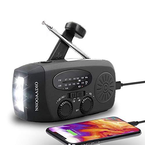 多機能防災ラジオ 防災懐中電灯ラジオ 手回し充電/太陽光充電/USB充電に対応した非常用ラジオライト。iphone、Android全スマホ充電。防水、AM / FM、5セクションアンテナ、1200mAhリチウム電池の高輝度ソーラーラジオをサポートします。地