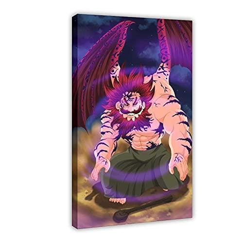 Poster sur toile avec dessin animé The Seven Deadly Sins 31 - Décoration murale pour salon, chambre à coucher - 30 x 45 cm