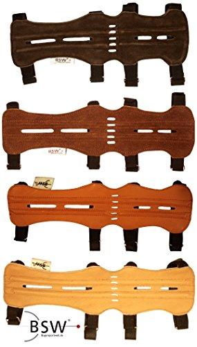 elToro Traditioneller Armschutz Mittel (28cm) - Glattleder dunkel
