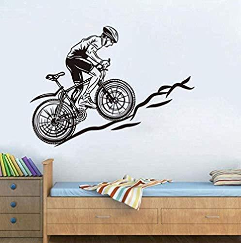 Adesivo da parete in vinile per decorare la casa, ideale come decorazione per la casa o per la bicicletta su una collina