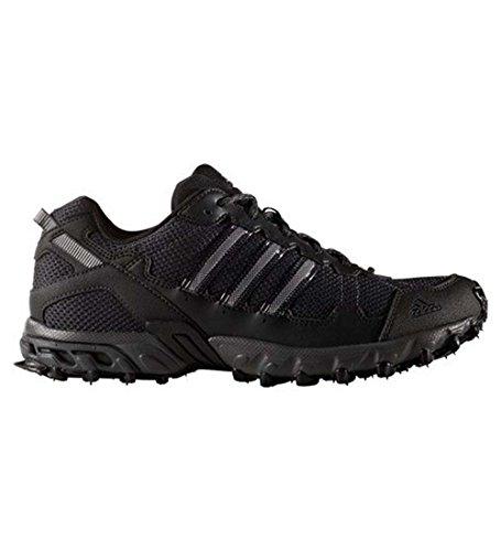 adidas Men's Rockadia Trail M Running Shoe, Black/Black/Dark Grey Heather, 11 M US
