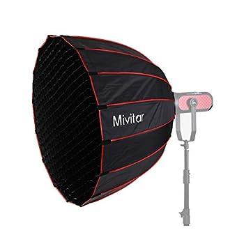 Mivitar Parabolic Softbox 35.43 inches /90CM Quick Set-up Folding Speedlight Umbrella Softbox for Aputure 120d II,Aputure 300x Aputure 300d II Light Bowens Mount  90CM