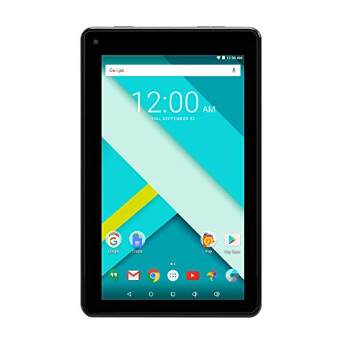 High Performance RCA 7 Inch 1GB RAM 16G Tablet Fast Quad Core Dual Camera Touch IPS Screen 1024 x 600 WiFi Bluetooth Android 7.0 Black (Renewed)