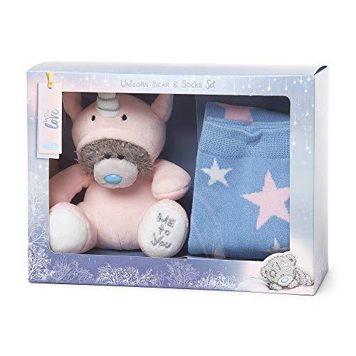 Me To You AGZ01077 Unicornio Dress Up Tatty Teddy Bear & Star Socks Set de Regalo