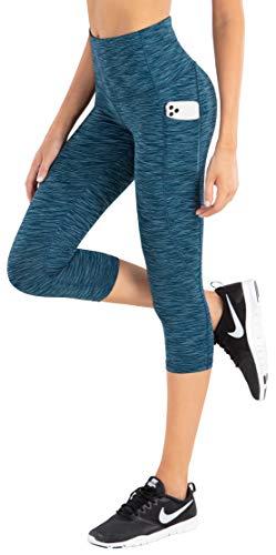 LifeSky - Pantalones de yoga para mujer, cintura alta, control de barriga con bolsillos, 4 vías de estiramiento -  -  X-Large