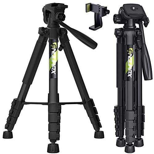 "Endurax 66"" Video Camera Tripod Stand Compatible with Nikon Canon, DSLR Cameras"