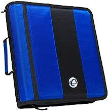 Case-it 2-Inch Ring Zipper Binder, Blue, D-251-BLU