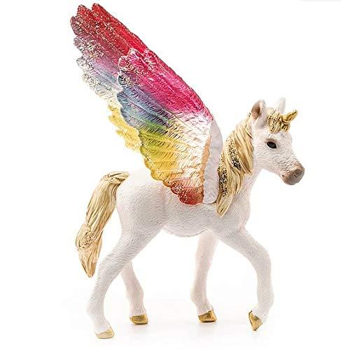 Schleich 70577 bayala Spielfigur - Regenbogeneinhorn Fohlen Spielzeug ab 5 Jahren