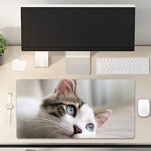 Cute Mouse Pad Cat Kawaii Kitty Beautiful Animal Pet PU Keyboard Pad Office Study Game Waterproof Mouse Mat Desktop Mat