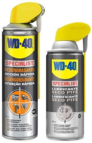 WD-40 Specialist Reinigingsset & smeermiddel – Specialist ontvetter 500 ml + specialist droogsmeerspray 400 ml – 2 stuks