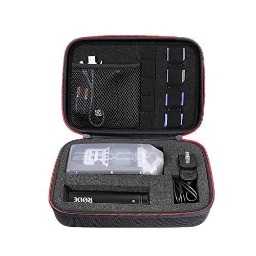 Hallart - Funda de viaje para Zoom H1, H2N, H5, H4N, H6, F8, Q8 Handy Grabadoras de música, cargador, adaptador de trípode de micrófono, tarjetas SD y accesorios