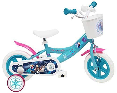 Disney ijskoningin kinderfiets wit/blauw 10 inch