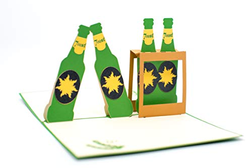 Bottiglia di birra verde.
