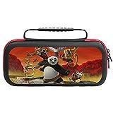 Kung Fu Panda - Funda de transporte para Nintendo Switch Lite, funda protectora de viaje de EVA, 20 cartuchos de juego