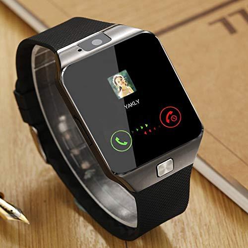 ukYukiko Smartwatch Dz09 Gold Silber Smartwatch für iOS für Android SIM-Karte Uhr