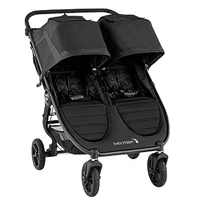 Baby Jogger 2111625 City Mini GT2 Jet - Cochecito doble plegable para todo tipo de terrenos, 18,59 kg, color negro
