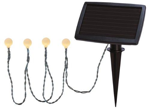 Best Season LED-Solarlichterkette Balls weiß / 20-teilig/Länge 2.7 m mit Wintersolarpanel inklusiv Akku/outdoor/warm weiß 477-58