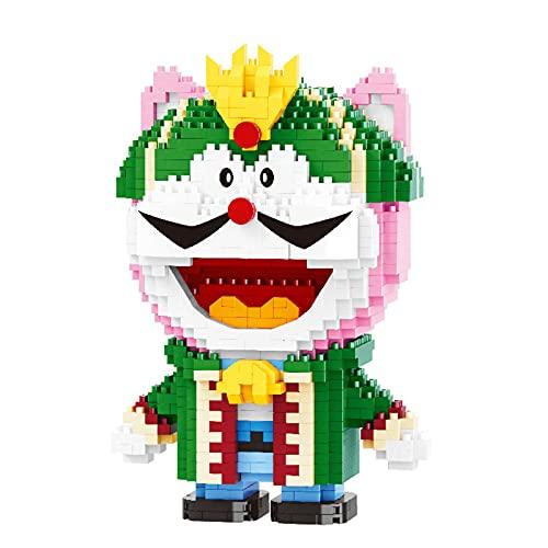 Anoauit Anime Doraemon Katze Roboter Cartoon 3D Modell DIY Mini Diamant Ziegel Nano Bausteine Spielzeug Für Kinder Geschenk (1110 stücke)
