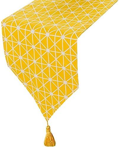 Corredor de mesa Los corredores -table en el patrón de tablero de ajedrez amarillo, Cubierta Tabla Decoración del hogar, ropa de cama Tabla clásico Mat Comedor Fiesta de Navidad Decoración Manteles