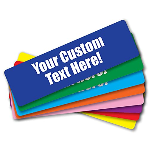 Funny Bumper Stickers Custom Car Decals - Create Your Own Stickers for Car, Your Choice of Colors and Fonts - 10 x 3 inches