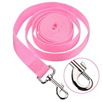 【EASY TO GRIP LOOP HANDLE】- Feels very soft, smooth and comfortable. Lightweight and easily portable, carry it anywhere. With reflective belt, good safety training harness for running your pet at night. Made from strong nylon with metal clip. Crafted...