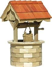 LuxCraft Garden 4' Wishing Well with Cedar Roof