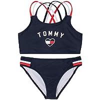 Tommy Hilfiger Girls Two-Piece Pull-On Bathing Suit & Bikini Set