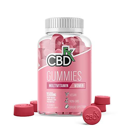 CBDfx Women's Multivitamin CBD Gummies (60 Gummy Bottle) - 1500mg CBD