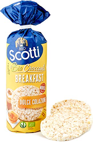 Riso Scotti - Risette Breakfast - Gallette di Riso Senza Glutine Bio, Alimento Biologico per la Colazione - Confezione da 130 gr