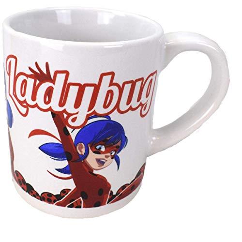 Ladybug Miraculous Mok met handvat voor kinderen, 230 ml, magnetronbestendig, met Ladybug en Cat Noir, cadeau voor…