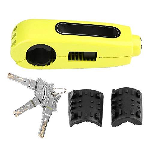 Stuurslot, roestvrij staal motorfiets remhendelslot gasgreep diefstalbeveiliging slot universeel voor motorfiets, scooters en ATV's default geel