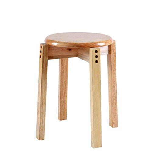Tabouret en bois Tabouret en bois massif Tabouret en chêne/empilable Tabouret en bois à usage domestique Tabouret à manger Tabouret créatif simple (Couleur : A)