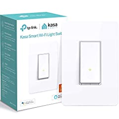 Easy Guided Install: Neutral Wire is required, standard wall plate size. No need to understand complex switch wiring or master vs auxiliary switch configurations; The Kasa app guides you through easy step by step installation. Need 2.4GHz Wi-Fi conne...