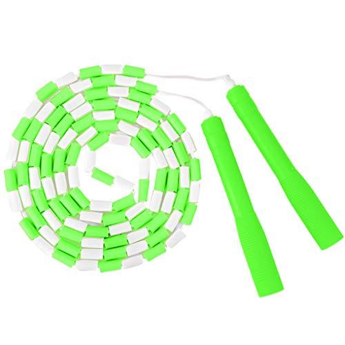Skxinn Sport Springseil Seilspringen Rutschfester Griff Springseil PP TPE Bambus Kinder Student Springseil - Fitness, Boxen, Training, Abnehmen für Kinder und Erwachsene(Grün,One Size)