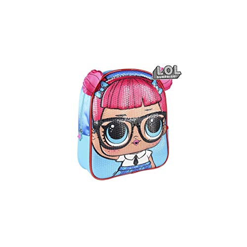 Cerdá - Mochila Infantil LOL Surprise con Lentejuelas en 3D - Licencia Oficial LOL Surprise