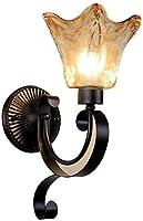 LYLSXY ウォールランプ牧草地中海寝室ヘッドボードリビングルーム通路シングルヘッド二重壁ランプ,シングルヘッド1