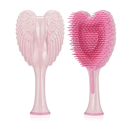 Tangle Angel Cute Hair Brush for Thick Curly Thin Long Short Wet or Dry Hair,Detangler Brush, Detangling Massage Brush for Adults & Kids Hair(150mm, Gloss pink)