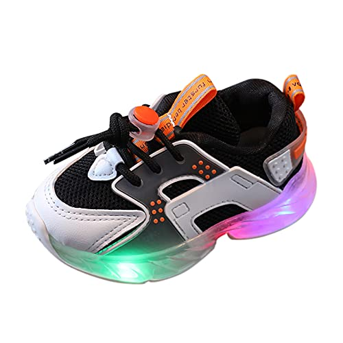 YWLINK Zapatillas De Deporte Led para NiñOs,Zapatos Brillantes,Zapatos Ligeros,Calzado Deportivo Casual,Zapatos De Escalada Al Aire Libre,Zapatillas De Correr Velcro,Zapatillas Transpirables