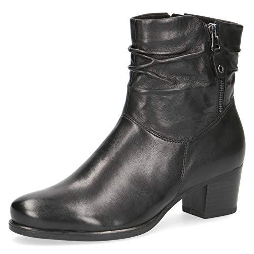 CAPRICE Damen Stiefel, Frauen Klassische Stiefelette, Woman Abend Feier Stiefel Boot halbstiefel damenstiefel Bootie,Black Soft NAP,37.5 EU / 4.5 UK