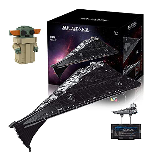 Hedi Technik Sternenzerstörer Bauset , Mould King Zerstörer 21004 , Super Star Destroyer UCS Klemmbausteine Kompatibel mit Lego Star Wars
