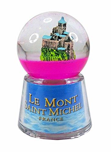 KDO-JOUETS.COM Boule Le Mont St Michel Lumineuse LED - Rose