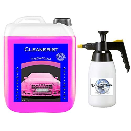 Cleanerist 5 Liter Snow Foam PINK I inkl. Schaumdruckpistole I Konzentrat   Autoshampoo auch für Wohnwagen & Caravan   Autowäsche I Foamer I Aktivschaum
