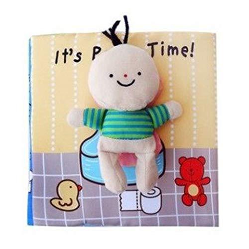 SLL Spielzeug Quiet Buch beschäftigt Buch Baby Newborn weichen Tuch Buch Lernen Bildung Lernen Gefühl Buch Children (Color : Wc)